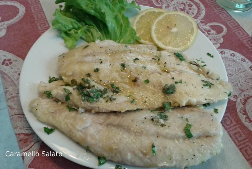 filetto di pesce persico alla mugnaia