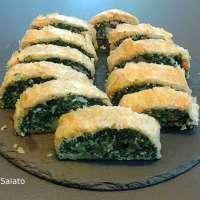 Rotolo di sfoglia con ricotta e spinaci