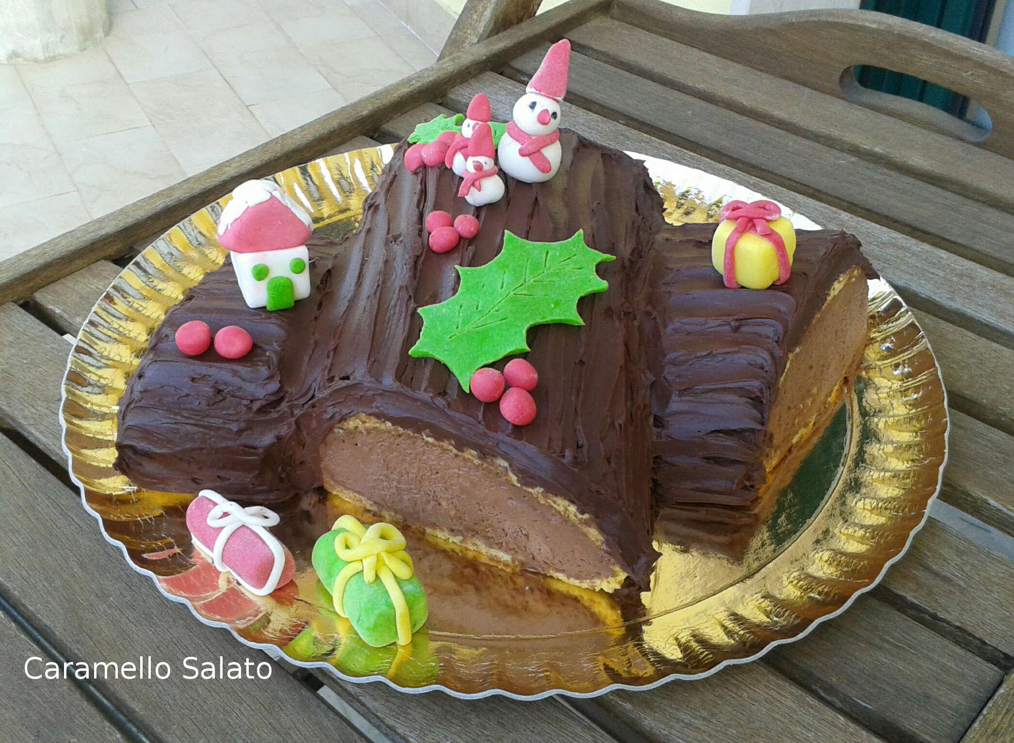 Tronchetto Di Natale Montersino.Tronchetto Di Natale Con Crema Chocolatine Caramello Salato