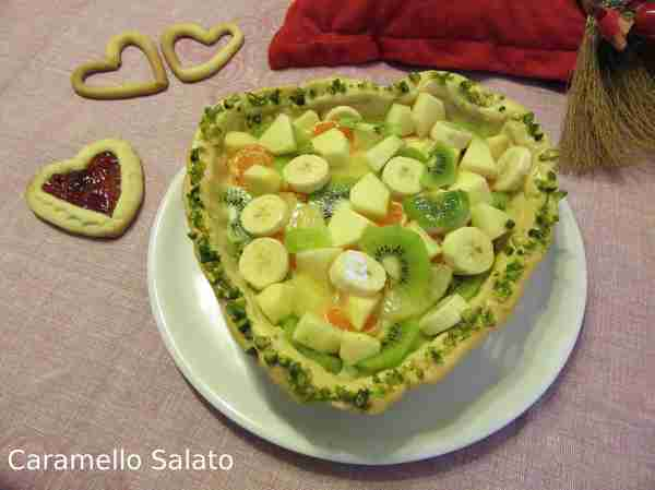 Ricetta Crostata a Cuore alla frutta