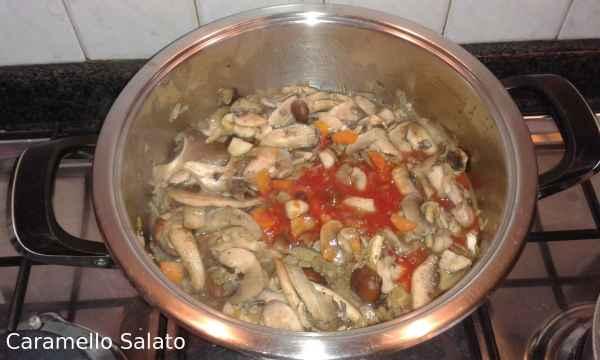 Ricetta Risotto con funghi e pomodoro