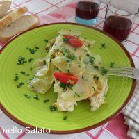 Pesce persico con verdure