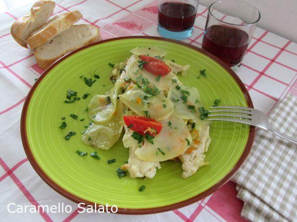 Ricetta pesce persico con verdure