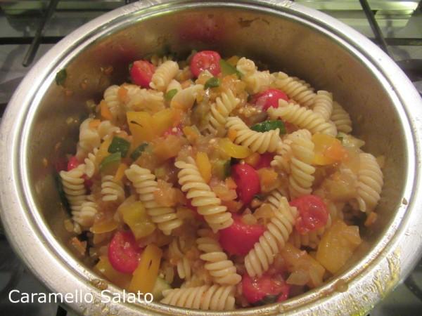 Pasta al ragù di verdure ricetta