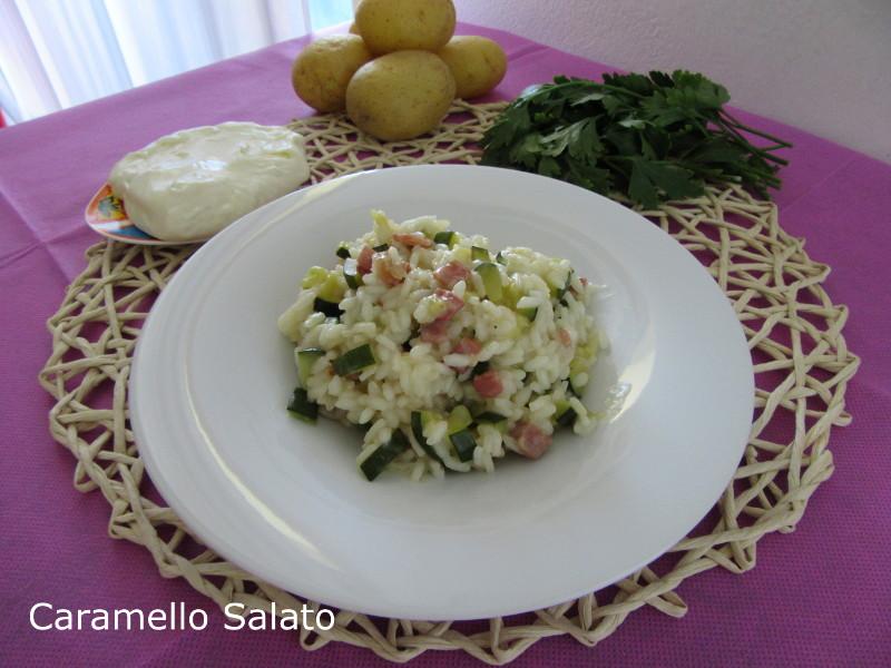 Risotto con zucchine especk