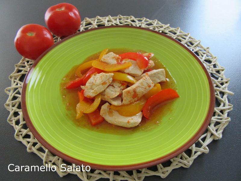 Pollo ai peperoni ricetta