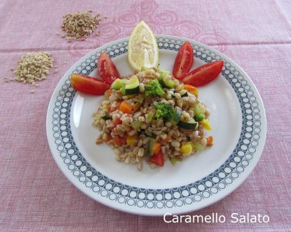 Insalata di cereali con verdure ricetta