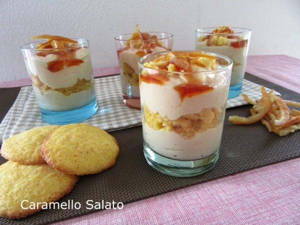Bicchierini all'arancia e caramello ricetta