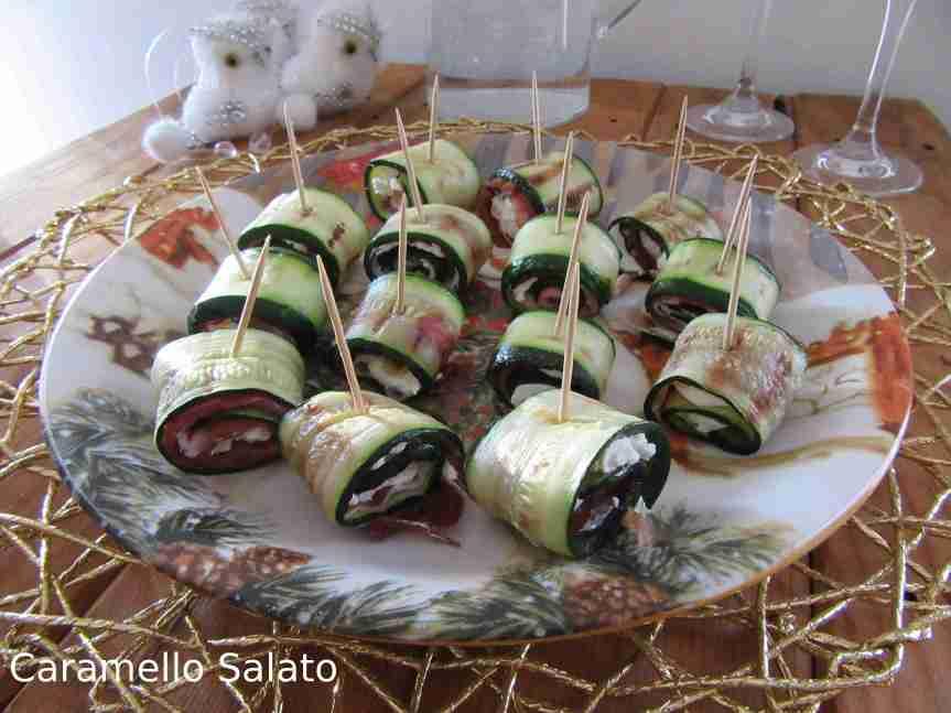 Ricetta Involtini di zucchine e speck