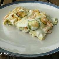 Lasagne zucchine e gamberetti