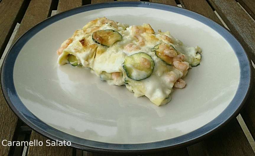 Lasagne zucchine egamberetti