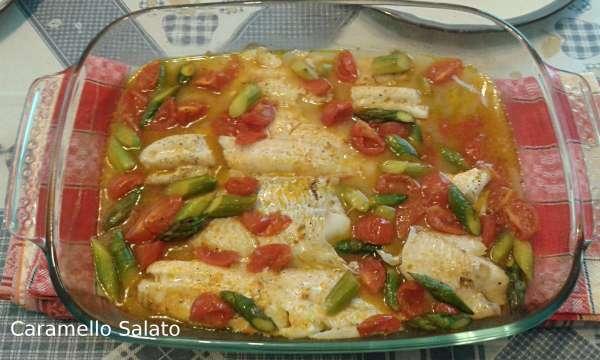 Filetti-di-merluzzo-con-Filetti-di-merluzzo-con-pomodorini-ricetta