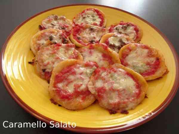 Ricetta pizzette di pasta sfoglia