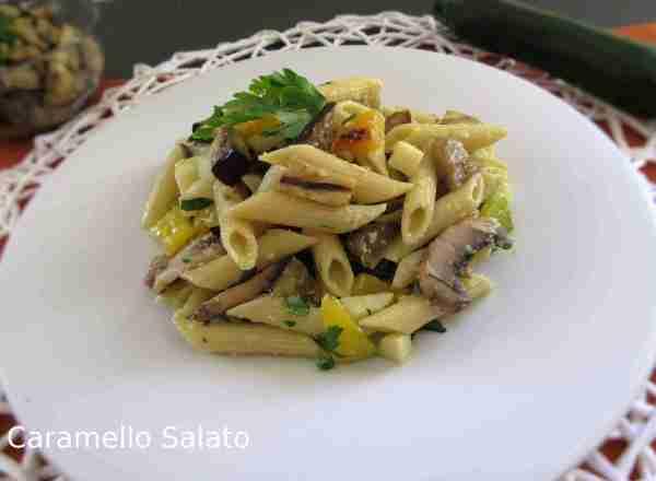 Ricetta Pasta fredda con verdure grigliate e provola
