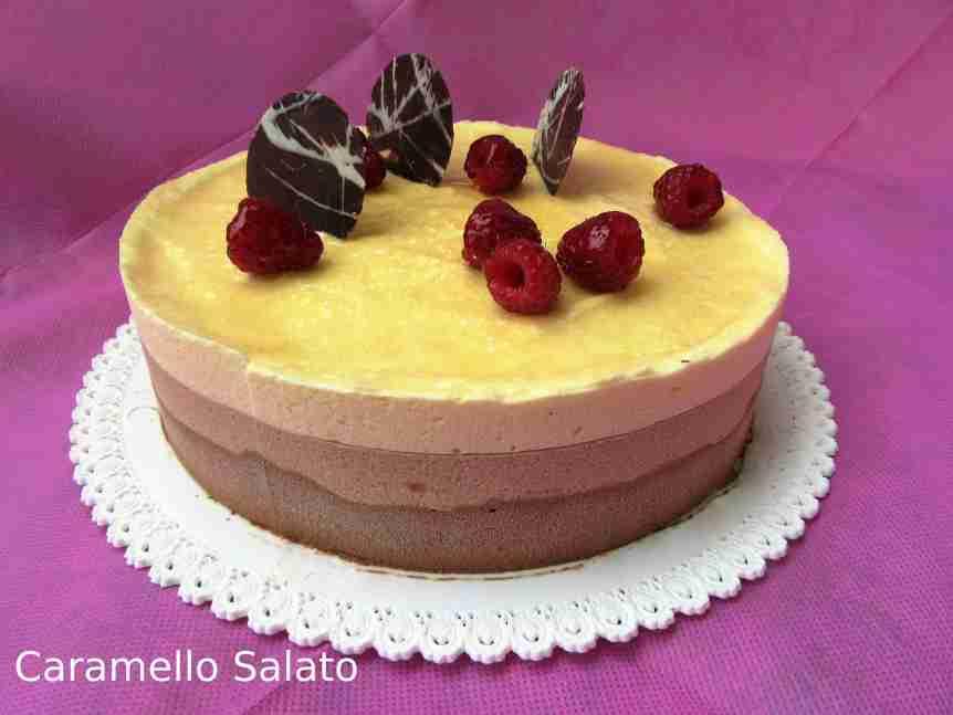 Torta Bavarese ai tre cioccolati di LucaMontersino
