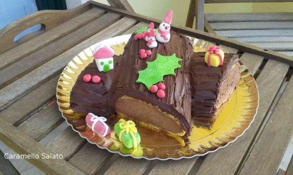 Tronchetto Di Natale Luca Montersino.Tronchetto Di Natale Con Crema Chocolatine Caramello Salato